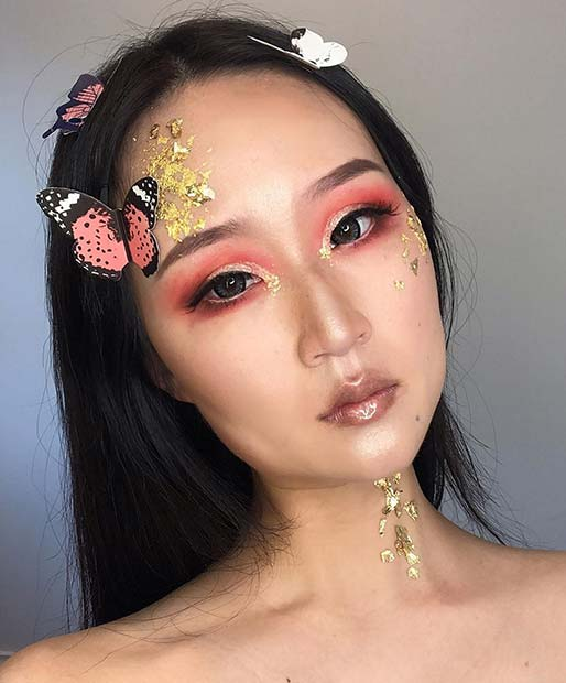 Magical and Gold Makeup Idea