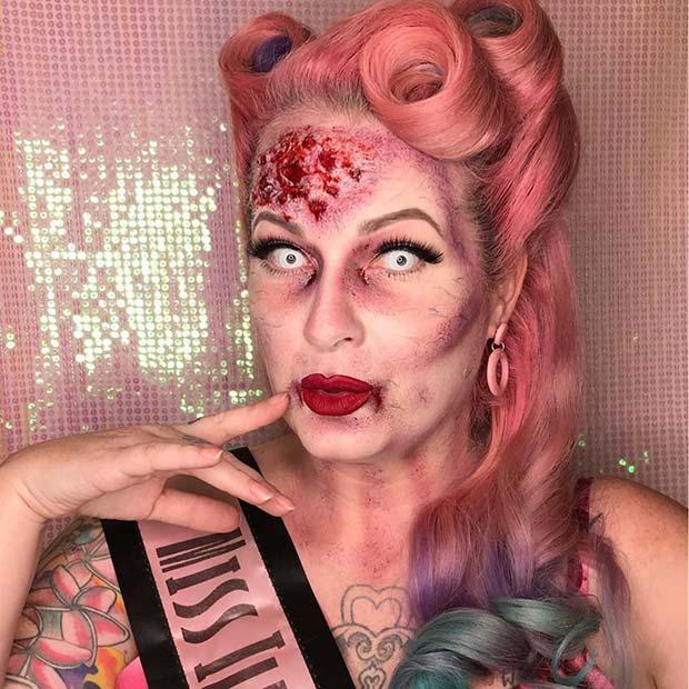Retro 50's Zombie Makeup