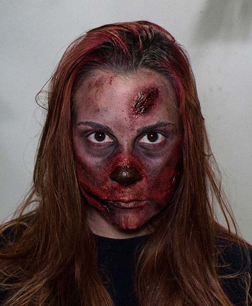 Bloody Zombie Makeup for Halloween