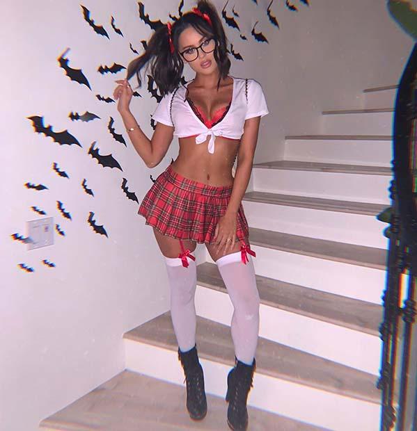 Sexy School Girl Costume Idea for Halloween
