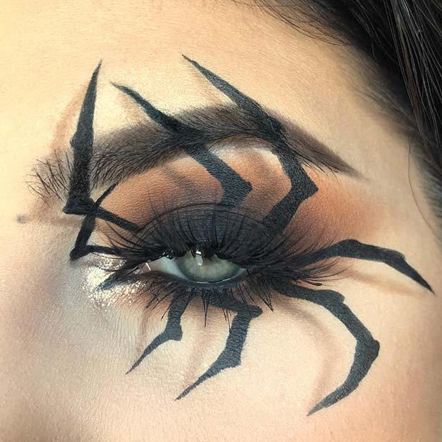 Spider Eye Makeup for Halloween