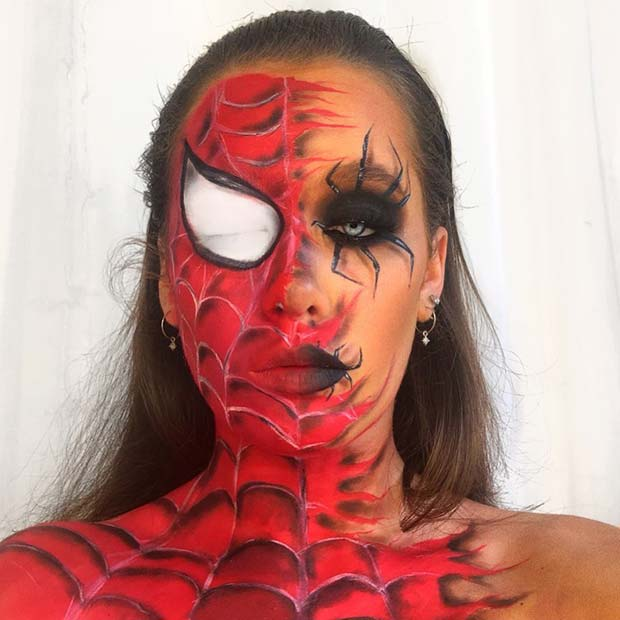 Spiderman Halloween Makeup for Women