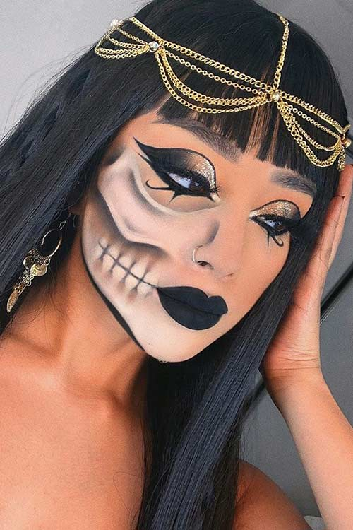 Spooky Egyptian Queen Halloween Makeup