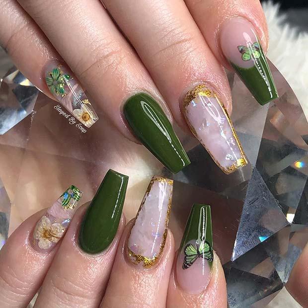 Stunning Olive Nails