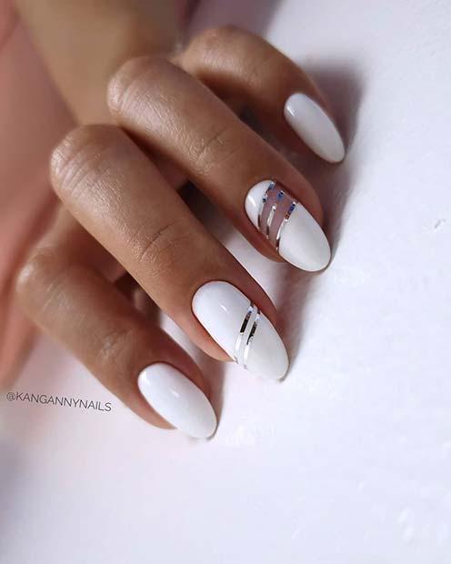 Stylish White Mani