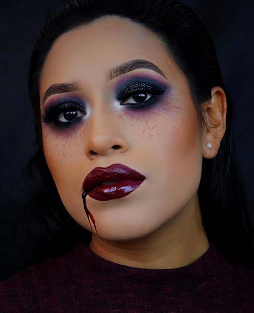 Vampy and Gothic Makeup