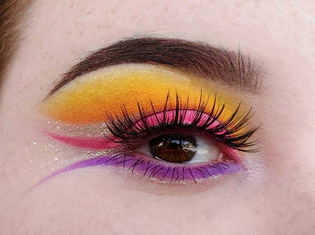 Vibrant Fairy Eye Makeup