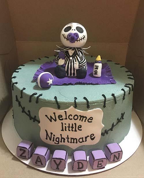 Welcome Little Nightmare Cake
