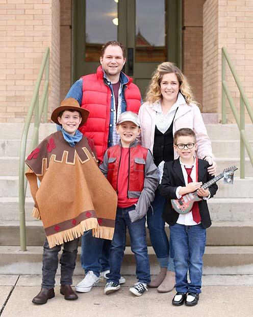 Back to the Future Family Costume Idea