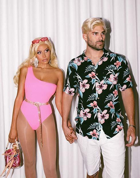 Barbie and Ken Couple's Costume Idea