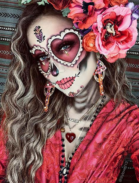 Bold Sugar Skull Halloween Costume