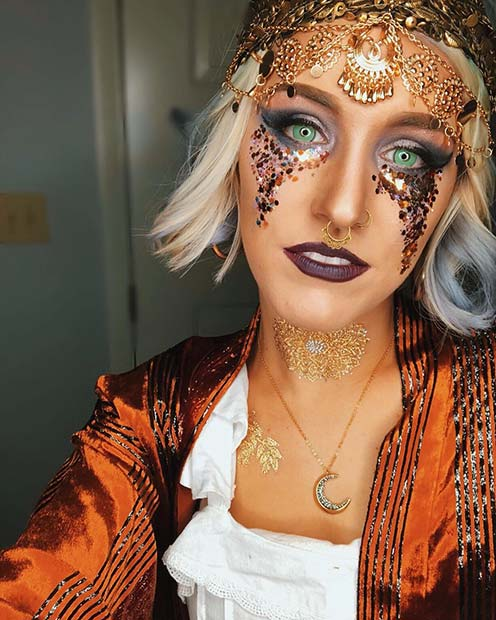 Bold and Magical Makeup with Sparkle