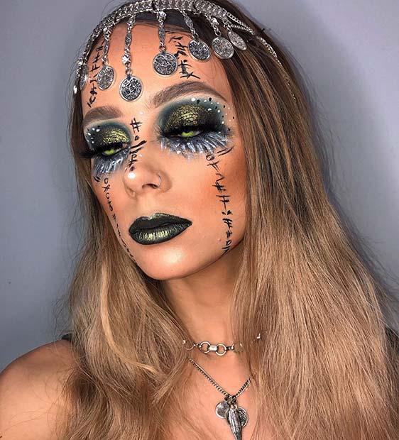 Creepy Fortune Teller Makeup