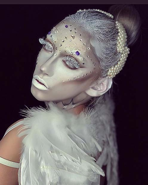 Creepy but Amazing Angel Makeup