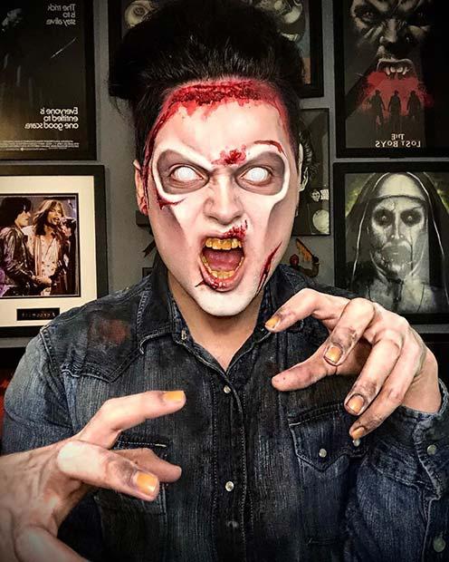 Deadite Ash Halloween Makeup Idee
