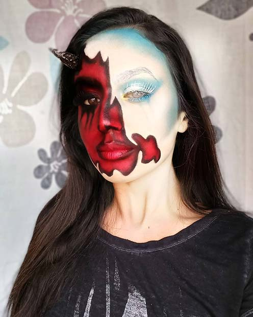 Devilish and Angelic Halloween Makeup