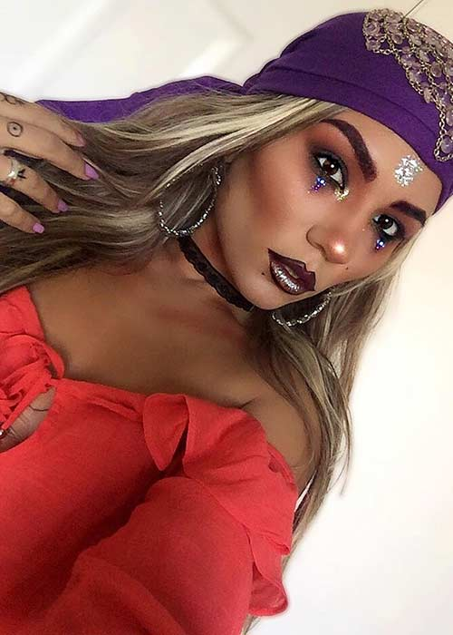 Easy Fortune Teller Makeup and Costume