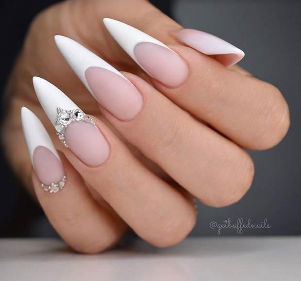 Elegant Stiletto Nails for Brides