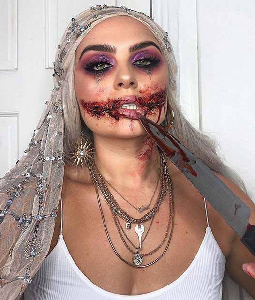 Gory Makeup for Halloween