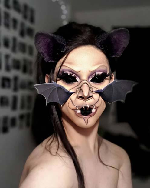 Spooky Illusion Bat Makeup