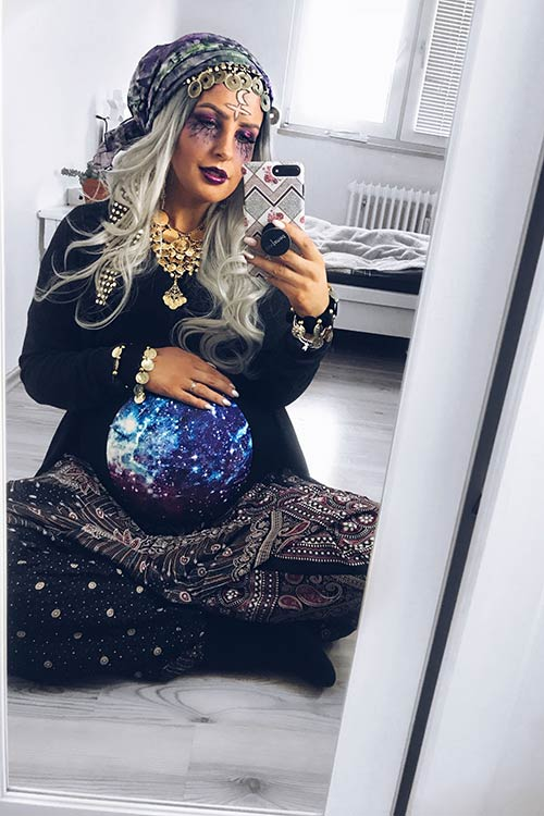 Maternity Gypsy Costume Idea