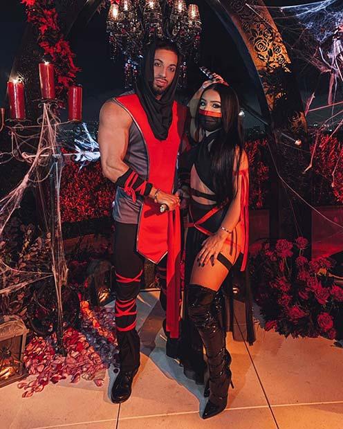 Ninja Couple Costumes for Halloween
