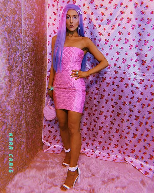 Pink and Purple Barbie Inspired Costume