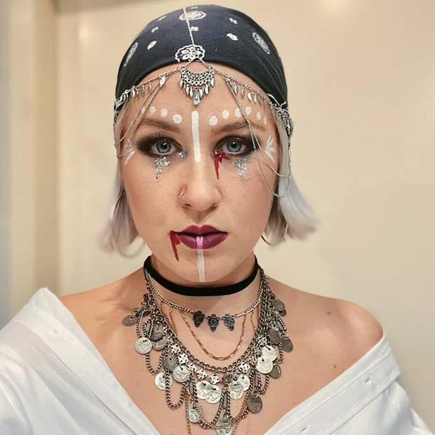 Pirate Makeup with a Mystical Design