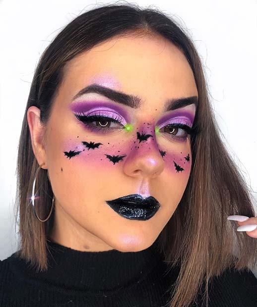 Purple and Black Halloween Makeup