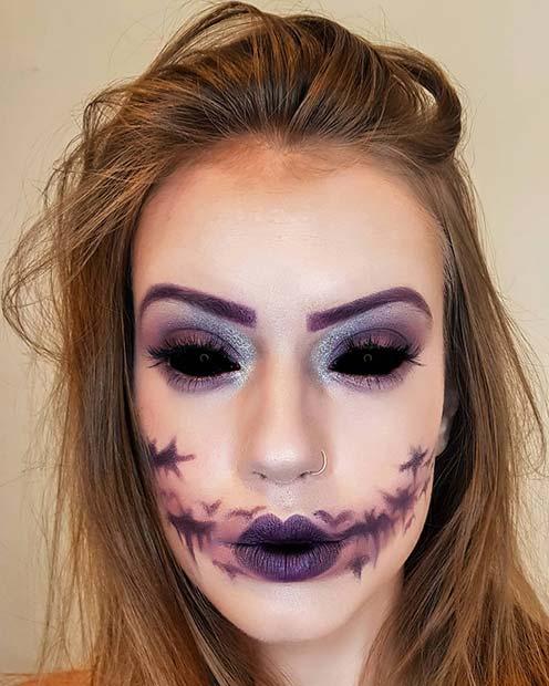 Scary Bat Makeup