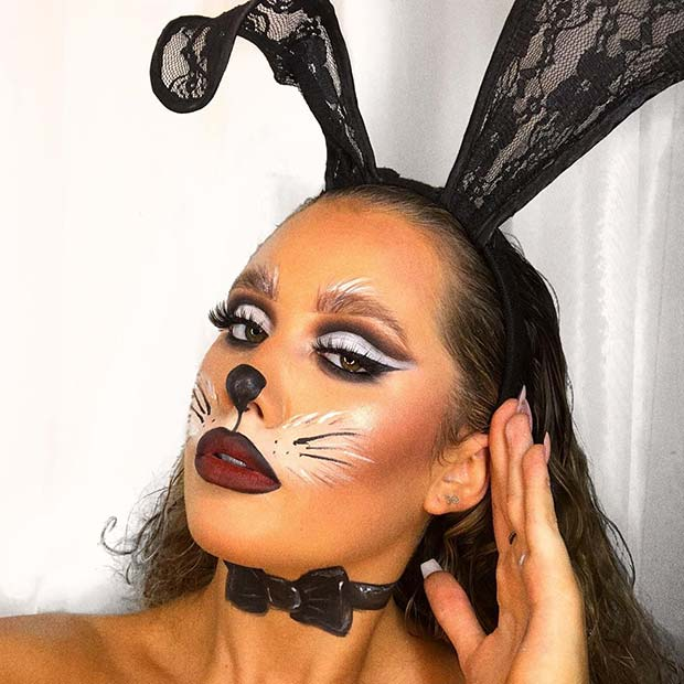Sexy Rabbit Halloween Makeup for Women