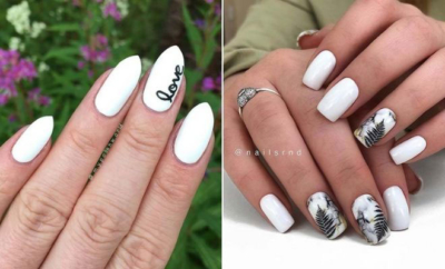 Short White Nails