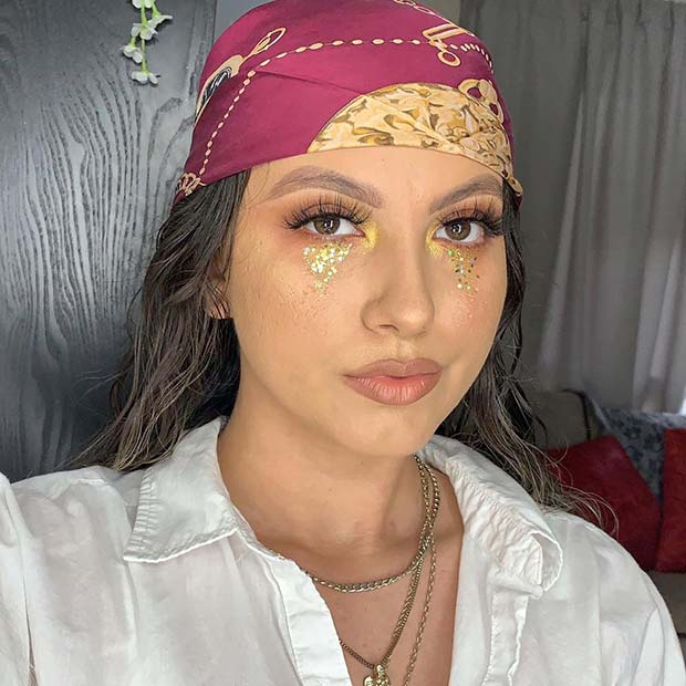 Simple and Pretty Pirate Makeup