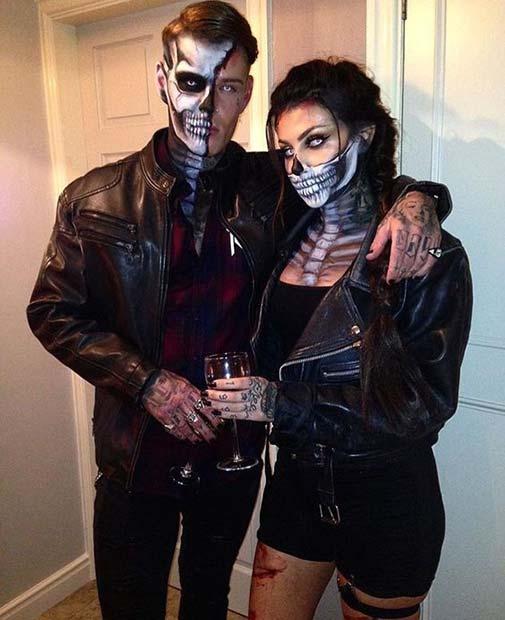 Sexy Skeleton Couple's Costumes