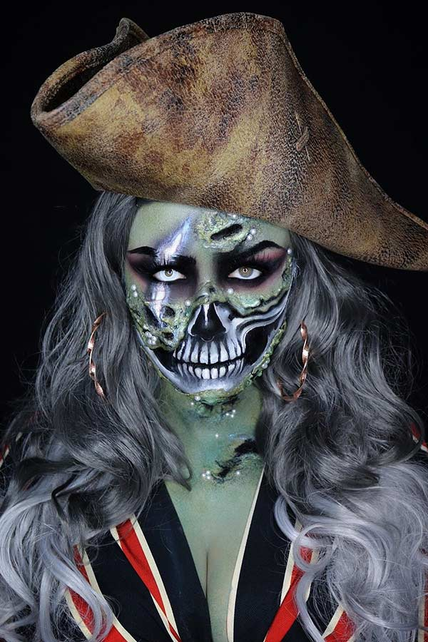 Skull Pirate Halloween Makeup