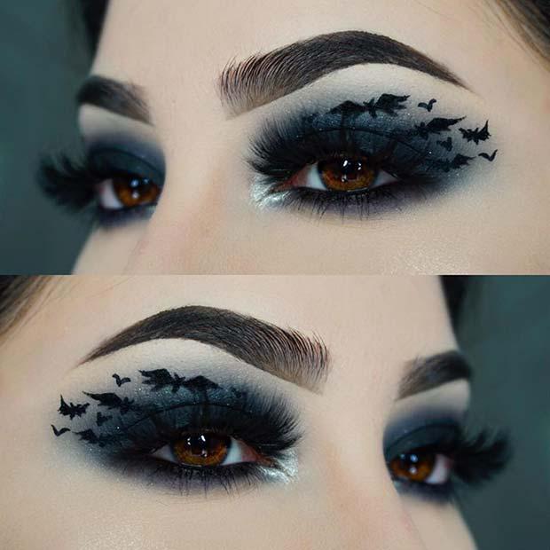 Pretty Bat Eye Makeup