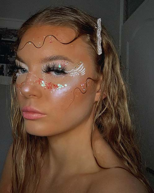 Pretty Angel Face Makeup