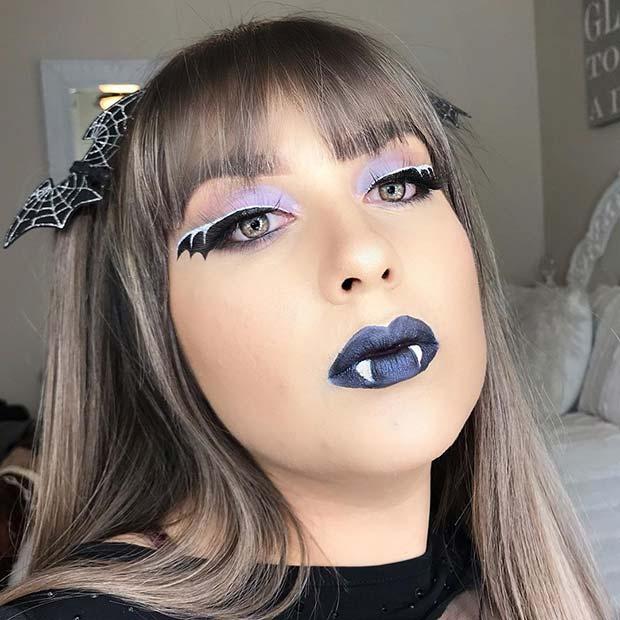 Spooky Bat Makeup