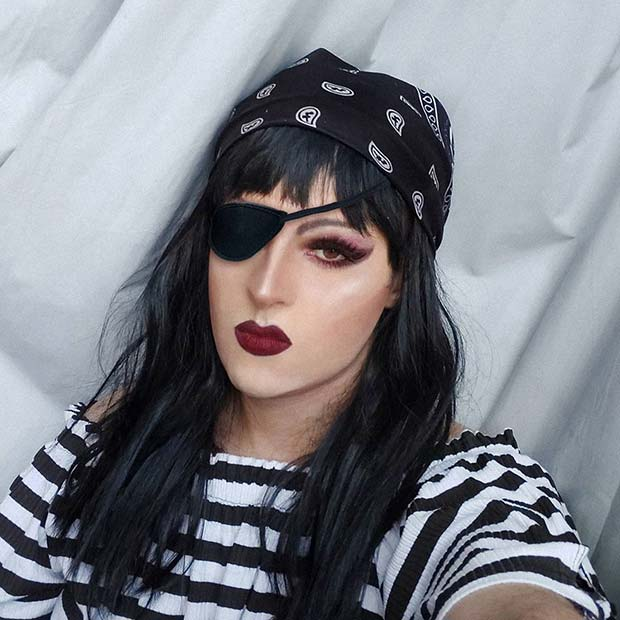 Stylish Pirate with an Eye Patch