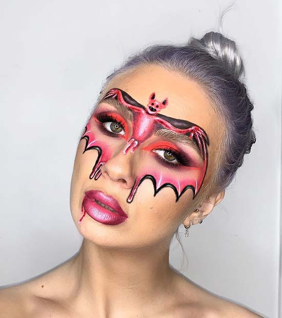 Unique Bat Makeup Design