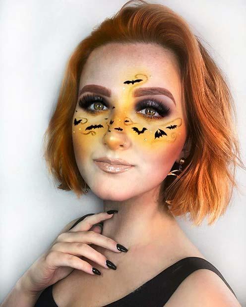 Vibrant Bat Makeup