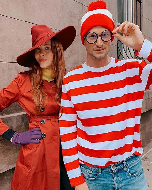 Where's Wally Couples Costume Idea