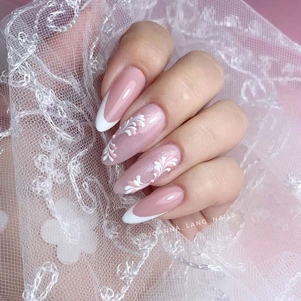 White French Tips Wedding Nails
