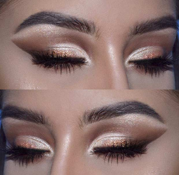 Bronze and Brown Eye Makeup Idea