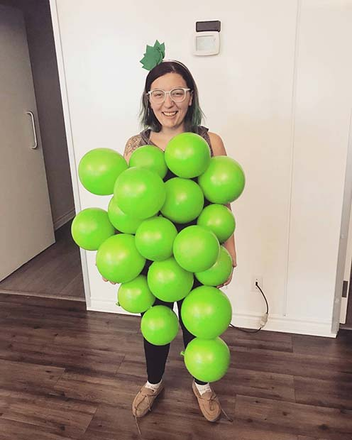 Fun DIY Grape Costume