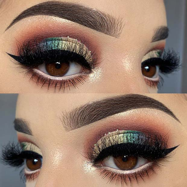 Glam and Bold Eye Makeup