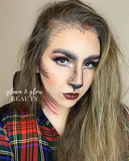Werewolf Halloween Makeup Look