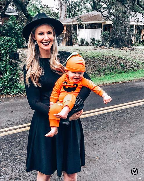 Witch and a Pumpkin