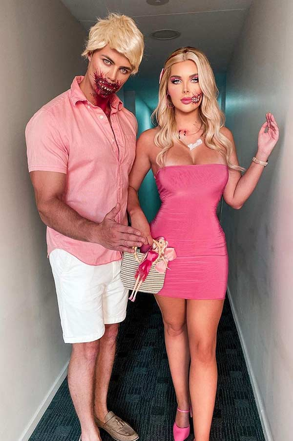 Scary Barbie and Ken Halloween Costumes